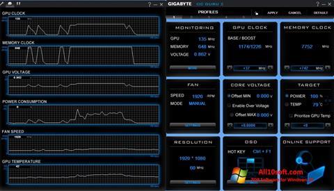 스크린 샷 GIGABYTE OC Guru Windows 10